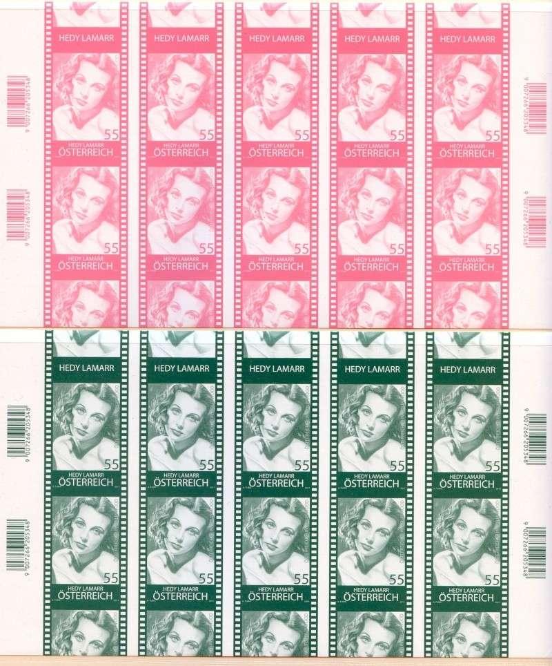 Österreich - Specimen, Schwarzdrucke, Buntdrucke Scanne63