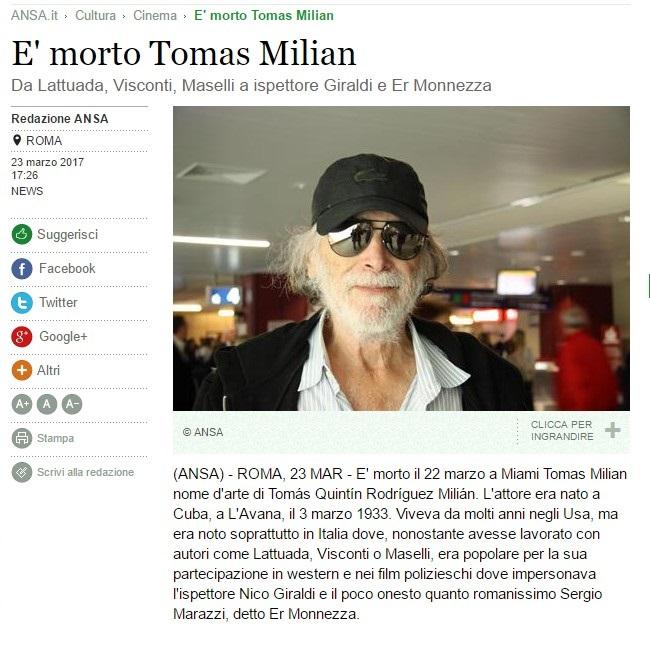 Addio a Tomas Milian Tomas-10