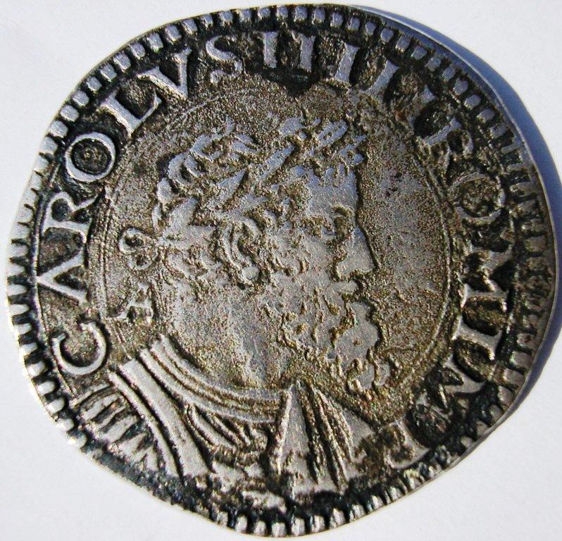 2 carlinos de Albertino - Nápoles (1519 a 56) Carlos10