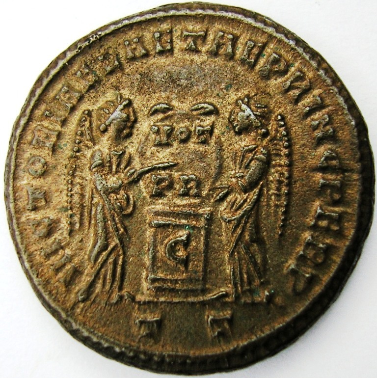 Follis Licinio hijo Ticinium 319 d.C. Licini15