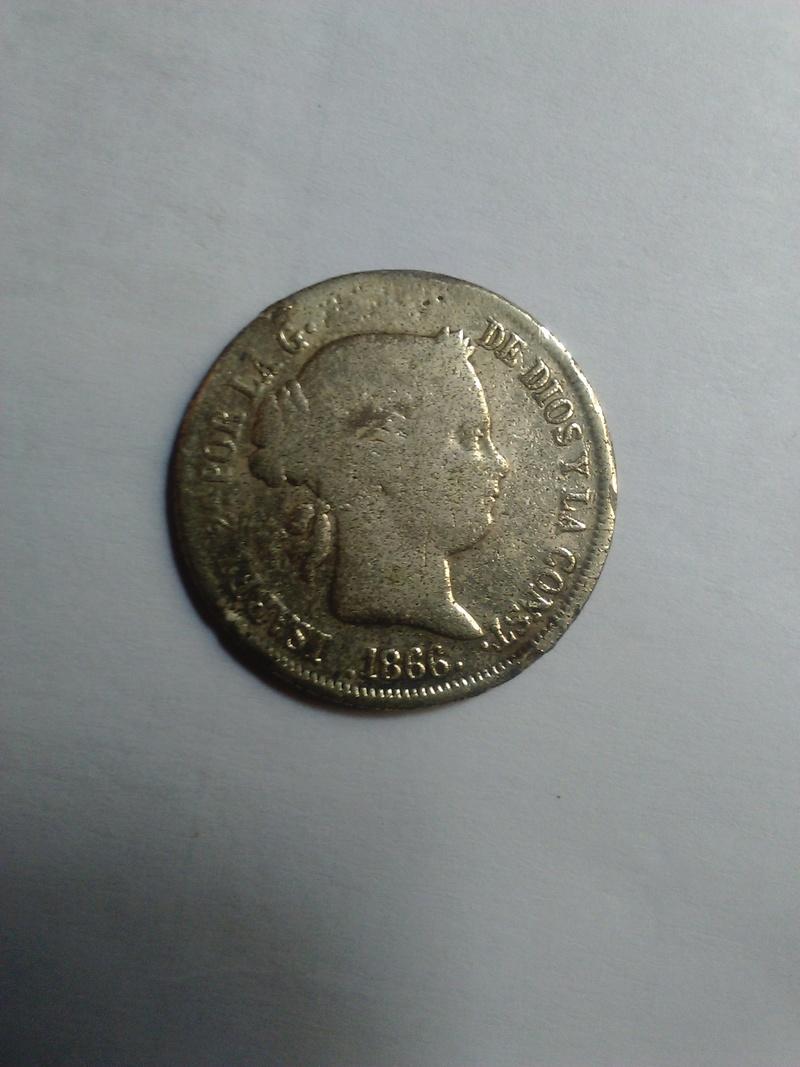 20 céntimos de escudo 1866 Isabel II 20_cen10