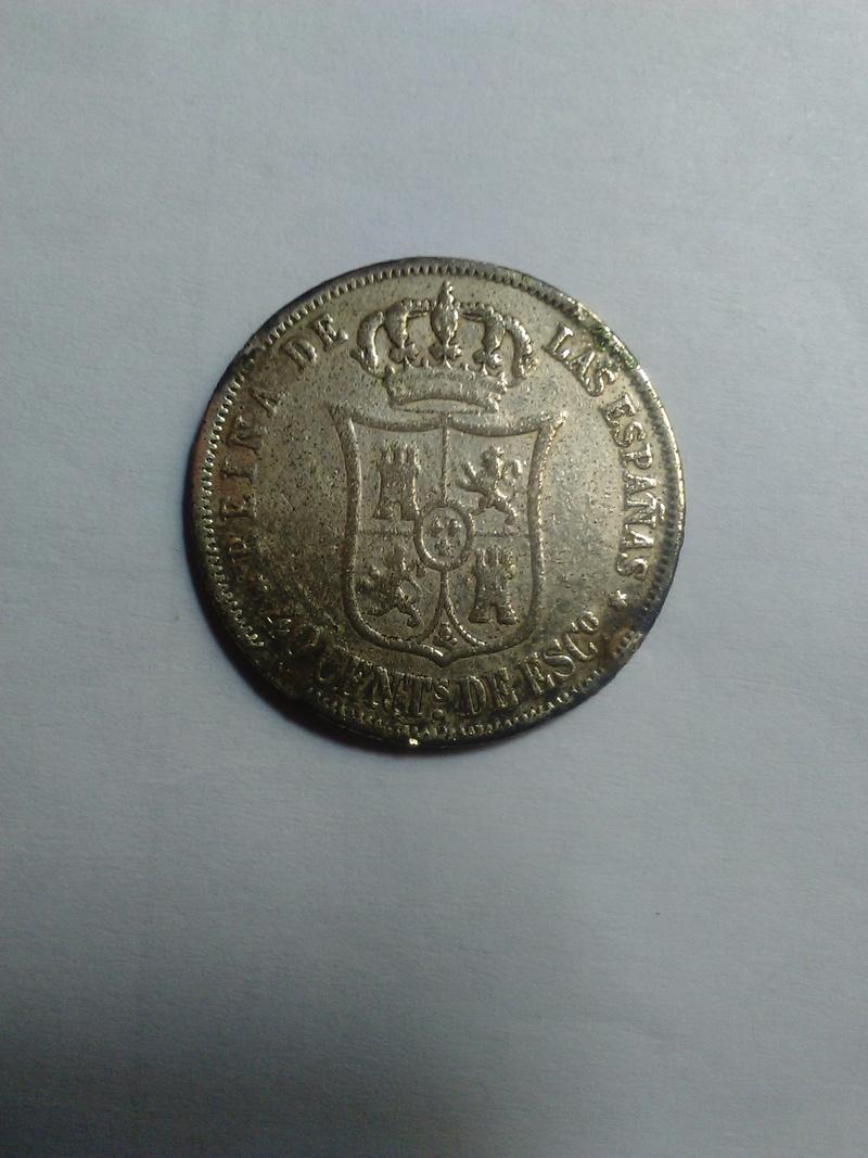 20 céntimos de escudo 1866 Isabel II 20_cen11
