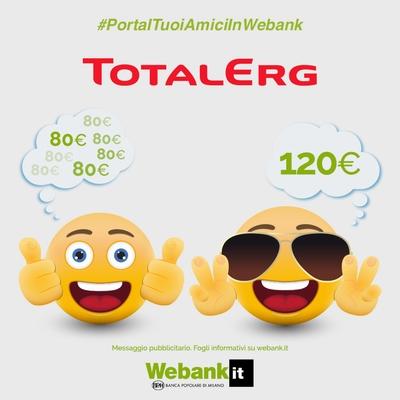 APRI CONTO WEBANK: IN REGALO PER TE UN BUONO ACQUISTO DI 120 EURO! A10