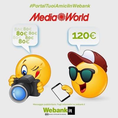APRI CONTO WEBANK: IN REGALO PER TE UN BUONO ACQUISTO DI 120 EURO! B10