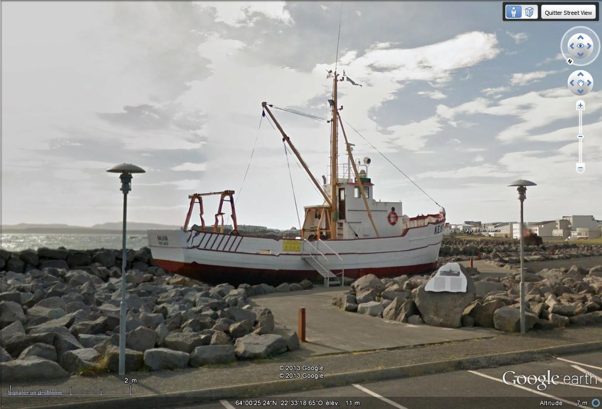 [Islande] - Street-view les cartes postales Bateau12