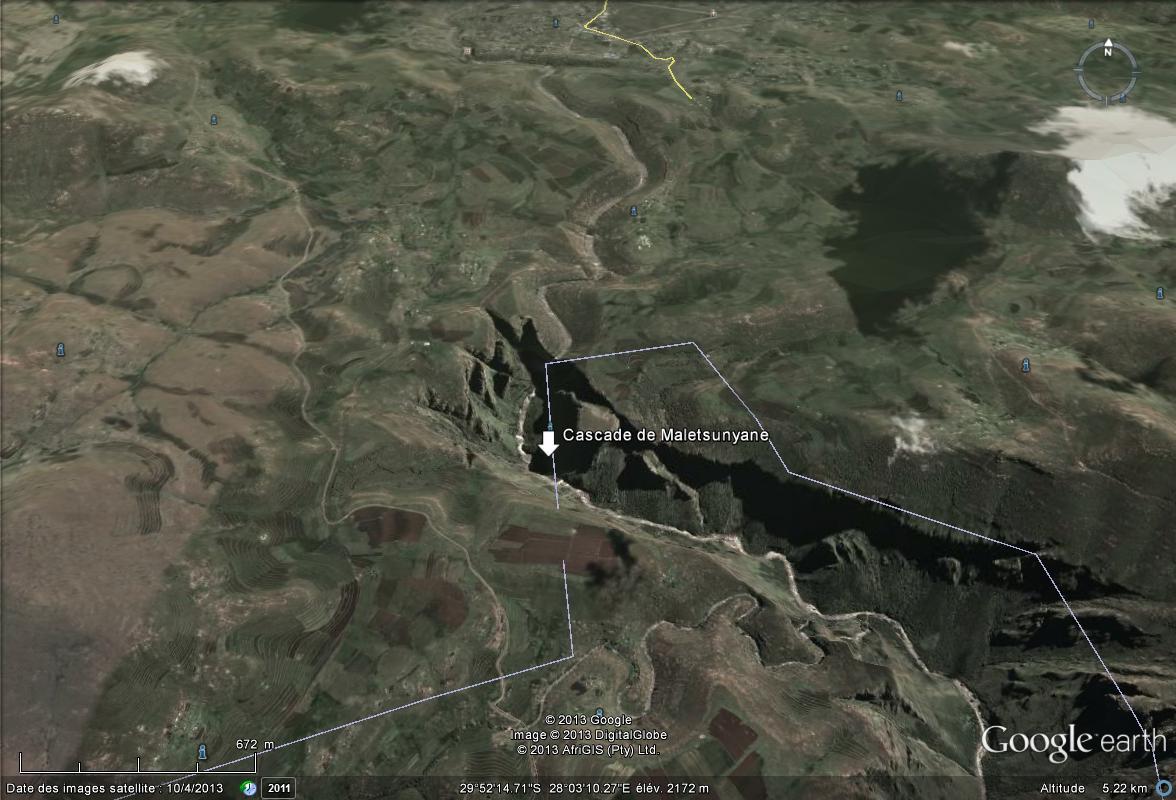 [Lesotho] - Cascade de Maletsunyane Cascad10