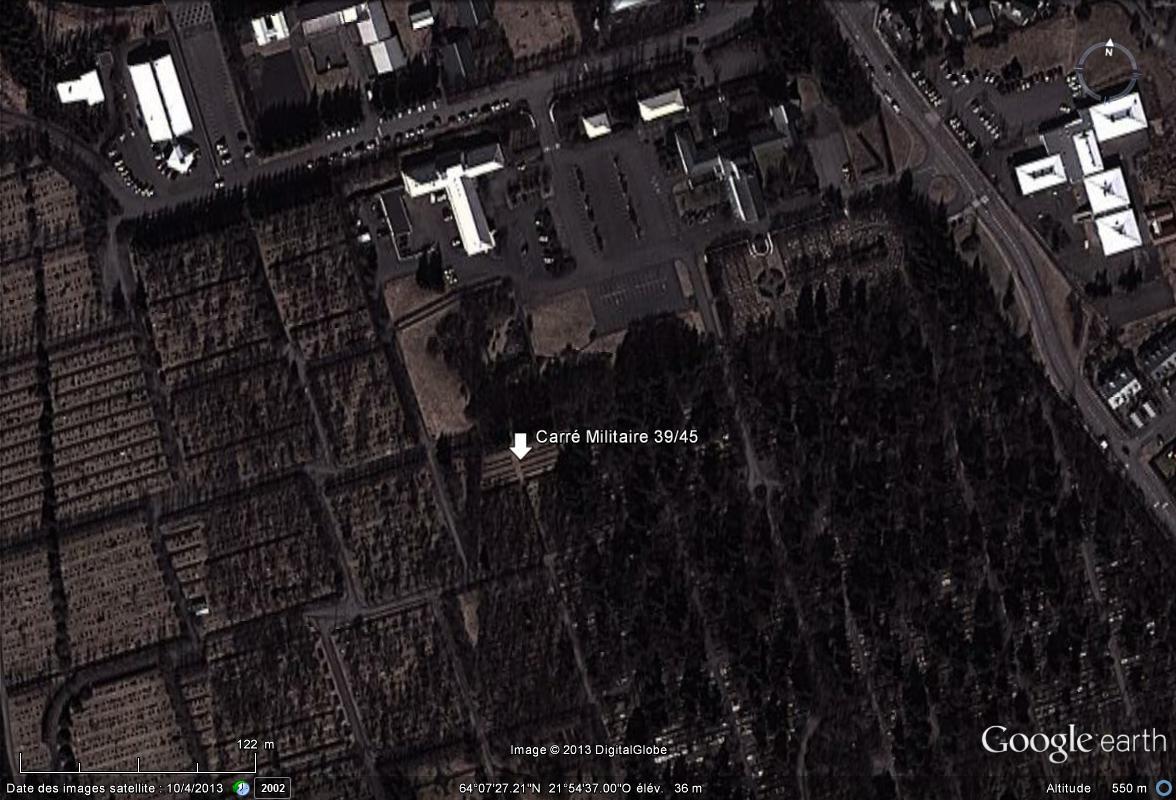 [Islande] - Carré militaire 39/45, cimetière Fossvogur à Reykjavik Cimeti10