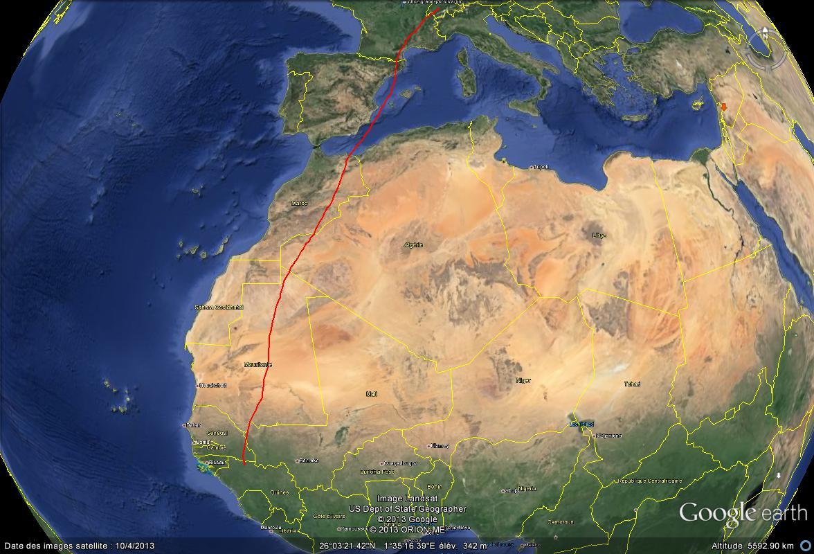 Des martinets ont parcouru 10.000 km en six mois sans se poser Parcou10