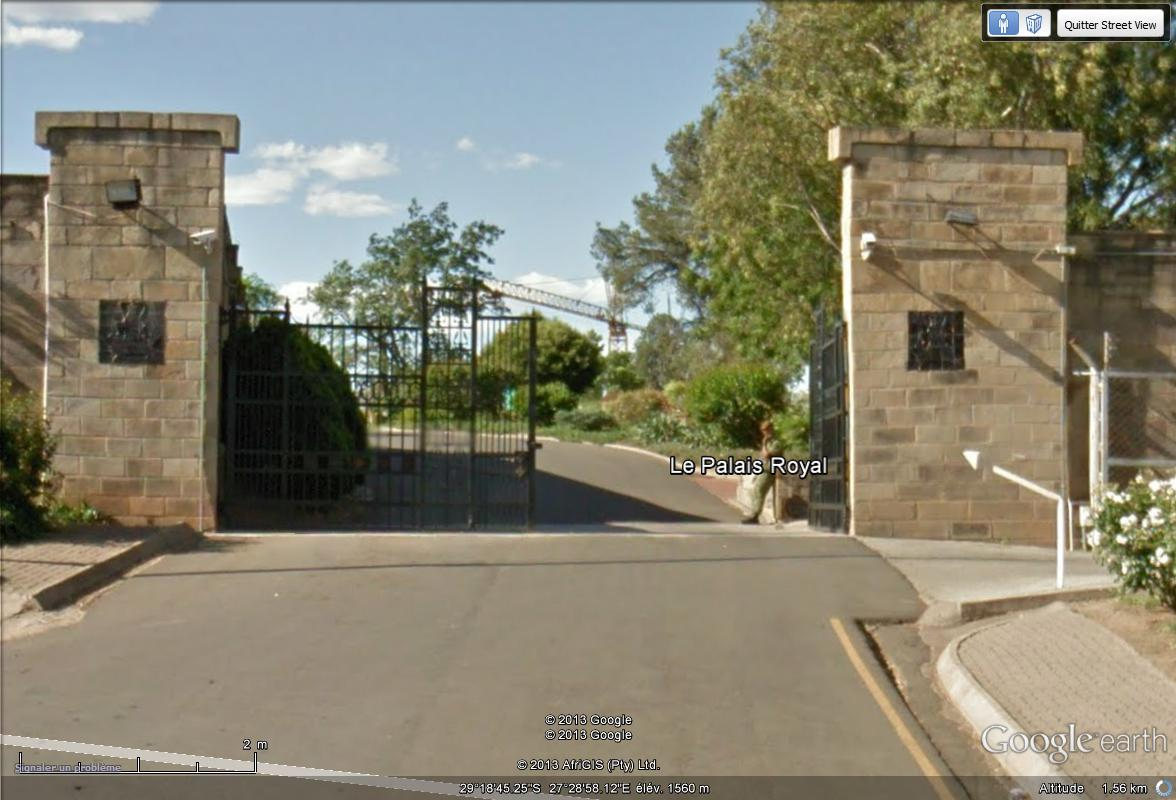 [Désormais visible sur Google Earth] -Le Palais Royal, Maseru [Lesotho] Street43