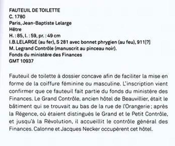 """Exposition """"Sièges en société"""" aux Gobelins - Page 4 Fauteu11"""