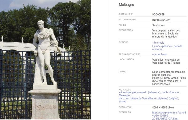 Méléagre, héros antique à Versailles Marron10