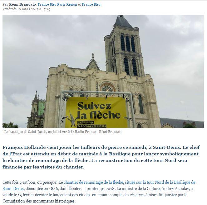 VICTOIRE !  Le projet de restitution de la flèche de la tour Nord enfin lancé !  St-den10