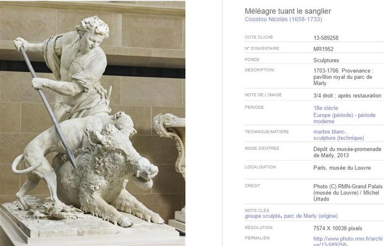 Méléagre, héros antique à Versailles Z11