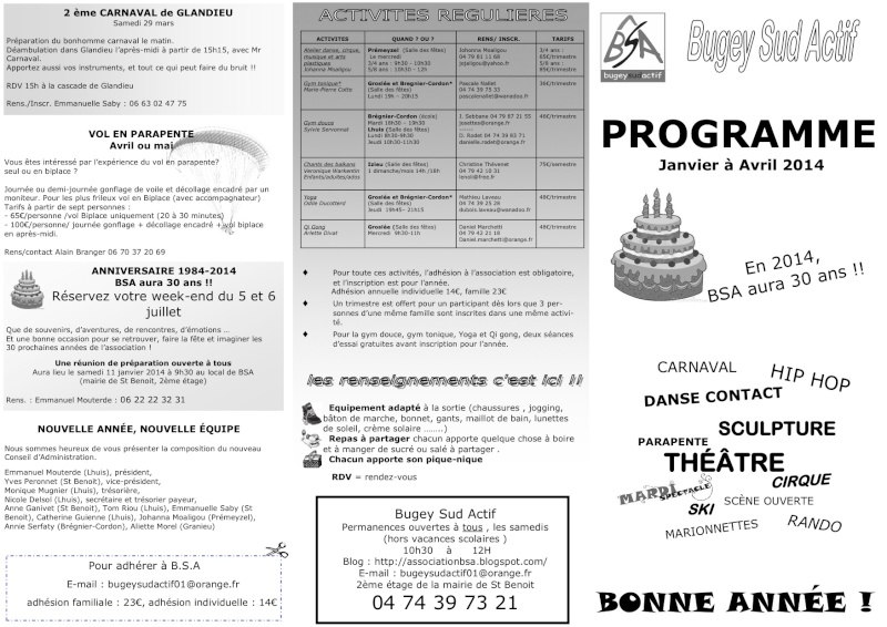 Association Bugey Sud Actif : spectacles, etc... Bsa20110
