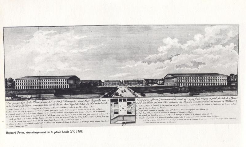 La place Louis XV, puis place de la Révolution, puis place de la Concorde au XVIIIe siècle 00241m10