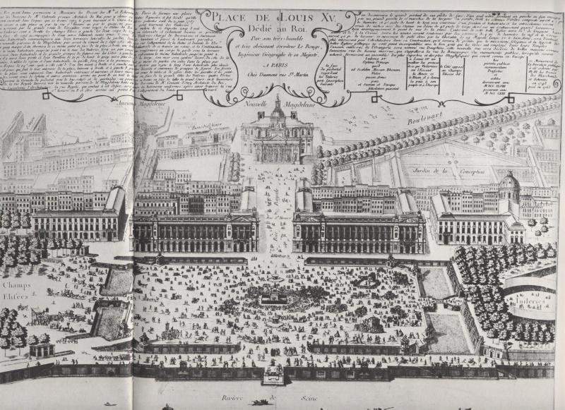 La place Louis XV, puis place de la Révolution, puis place de la Concorde au XVIIIe siècle 00713n10