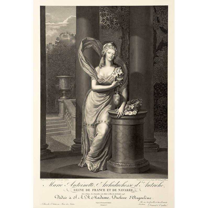 Portraits de Marie-Antoinette costumée à l'antique, ou en vestale, par et d'après F. Dumont  1359_x11