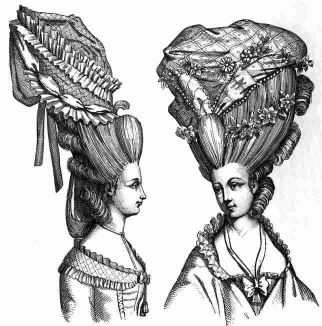 Les coiffures au XVIIIe siècle  21610