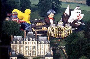 La conquête de l'espace au XVIIIe siècle, les premiers ballons et montgolfières !  Chatea11
