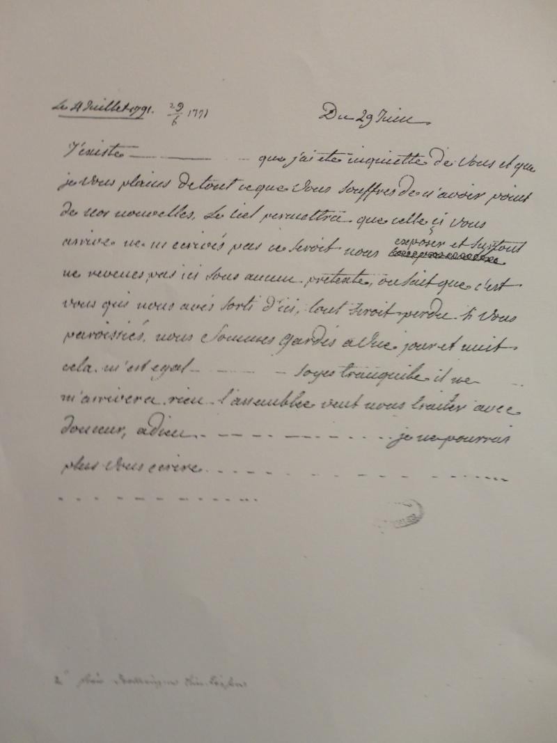 La correspondance de Marie-Antoinette et Fersen : lettres, lettres chiffrées et mots raturés Dsc02310