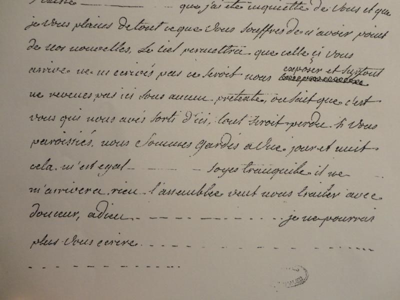 La correspondance de Marie-Antoinette et Fersen : lettres, lettres chiffrées et mots raturés Dsc02311