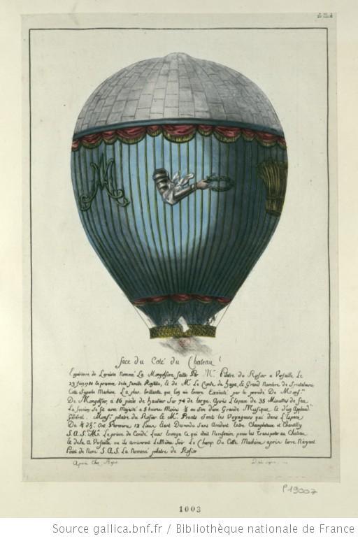 La conquête de l'espace au XVIIIe siècle, les premiers ballons et montgolfières !  F1_hig15