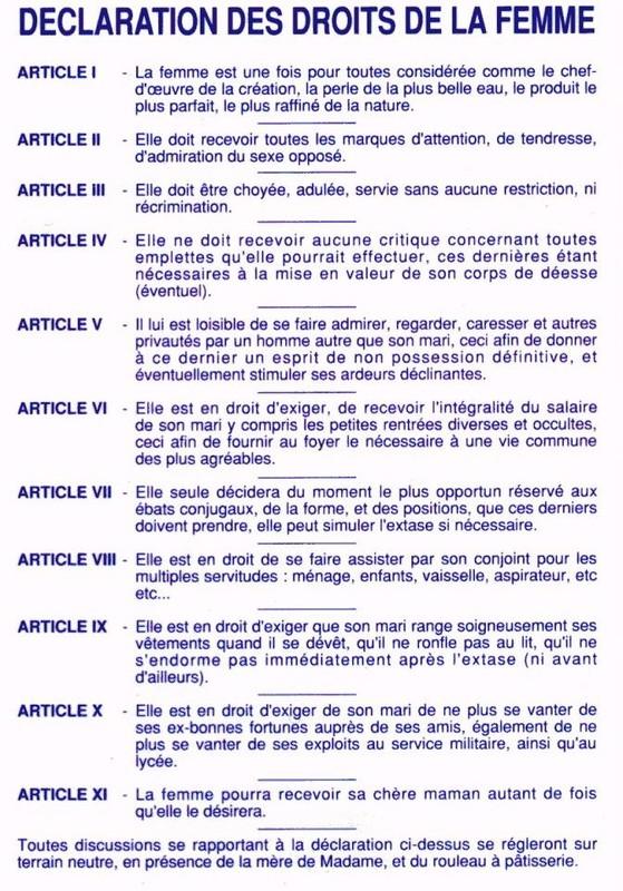 olympe de gouges declaration