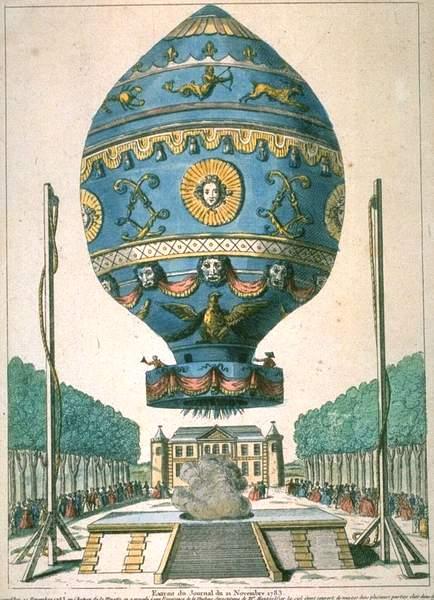 La conquête de l'espace au XVIIIe siècle, les premiers ballons et montgolfières !  Firstv10