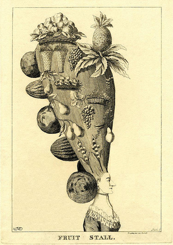 Les coiffures au XVIIIe siècle  Fruit_10