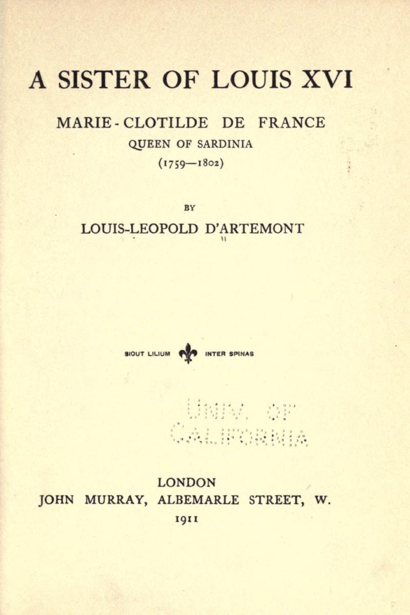 """La princesse Clotilde de France, dite Madame Clotilde, """"Gros Madame"""" - Page 3 Oooooo13"""