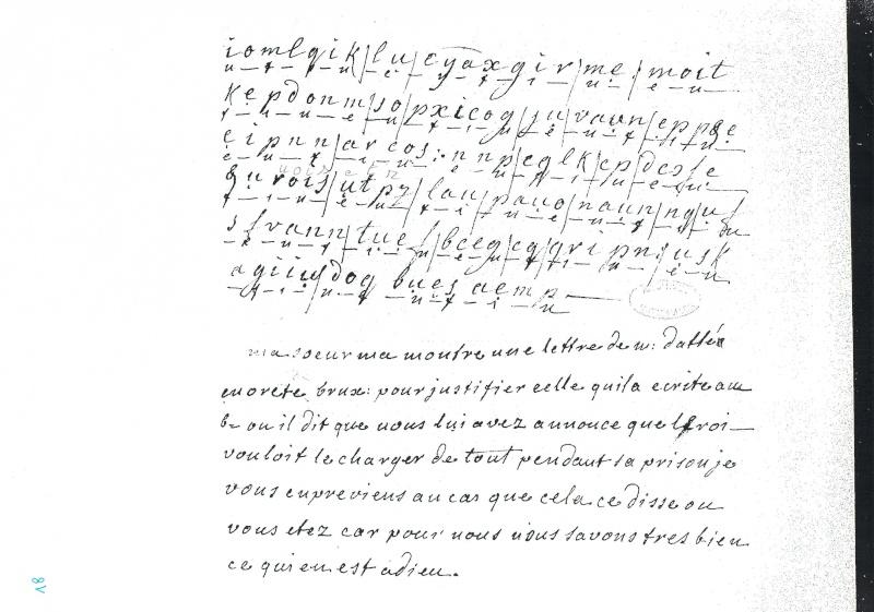 La correspondance de Marie-Antoinette et Fersen : lettres, lettres chiffrées et mots raturés Partie10