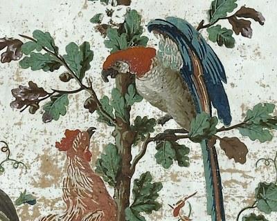 Papiers peints de rêve au XVIIIe siècle Perroq10