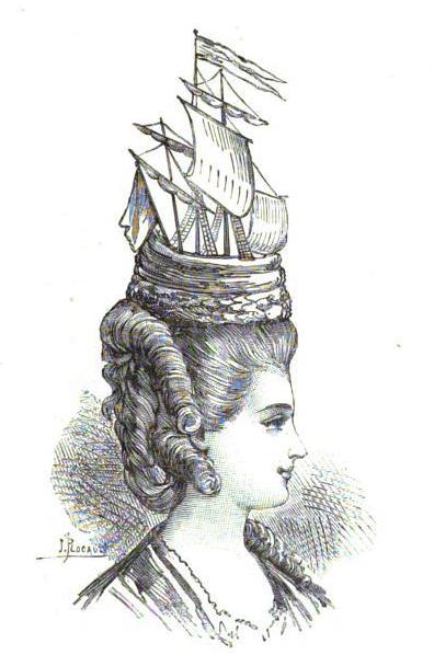 Les coiffures au XVIIIe siècle  Ship_o10