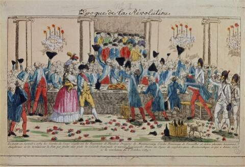 Le banquet des Gardes du corps, 1er octobre 1789