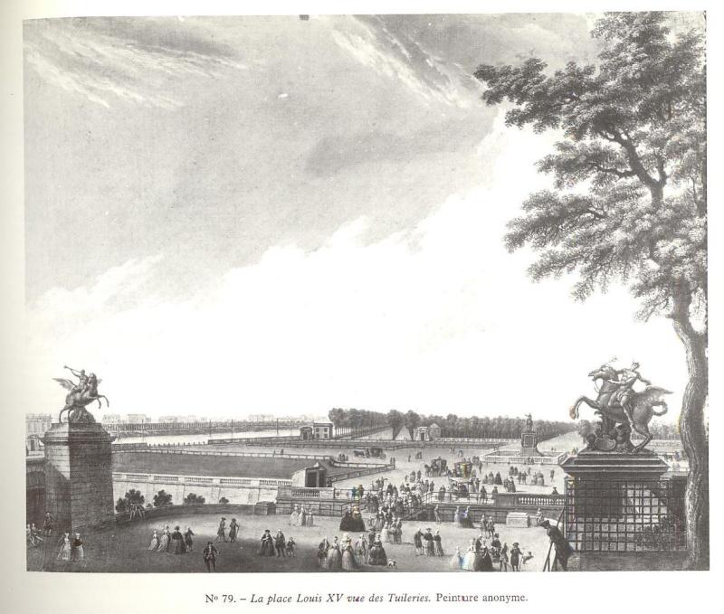 La place Louis XV, puis place de la Révolution, puis place de la Concorde au XVIIIe siècle Zorro10