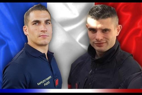 BSPP : décès en intervention de deux sapeurs-pompiers . (Source du Ministère des Armées) 2cch-s11
