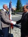Inauguration du Rond-Point des Anciens-Combattants , avec l'apposition d'une plaque commémorative en hommage à Martial COURBON Adjudant-Chef , Président des Anciens-Combattants ACPG de Bages .(Photographies de Raphaël ALVAREZ) 4311