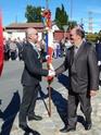 Inauguration du Rond-Point des Anciens-Combattants , avec l'apposition d'une plaque commémorative en hommage à Martial COURBON Adjudant-Chef , Président des Anciens-Combattants ACPG de Bages .(Photographies de Raphaël ALVAREZ) 4411