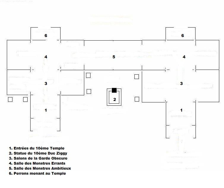 Plans du Temple de la 10ème heure Piecep10