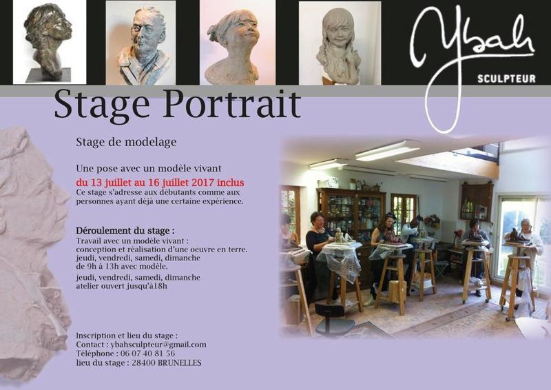 stage 4 jours portrait chez et par Ybah sculpteur juillet  19060110