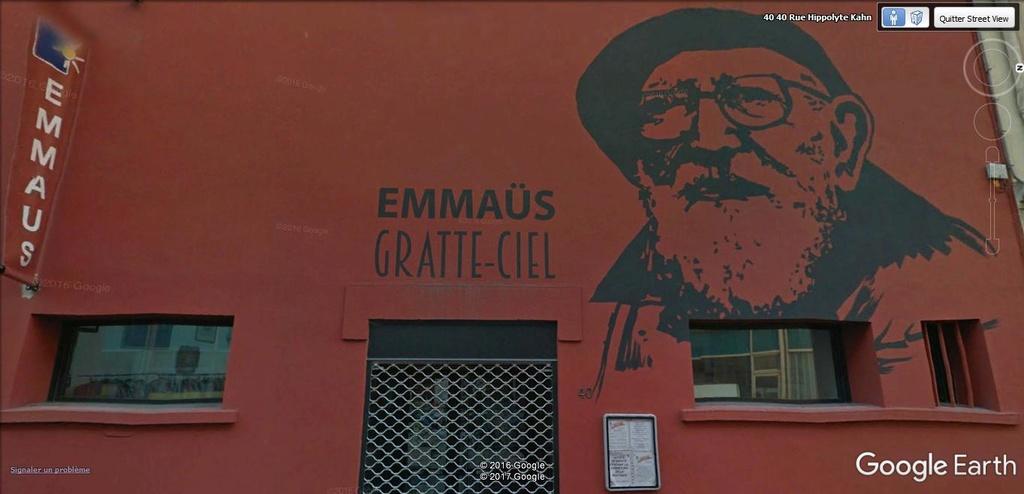 STREET VIEW :Emmaus, à Villeurbanne. A10