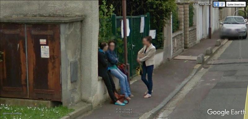STREET VIEW : pris deux fois par la google car  A27