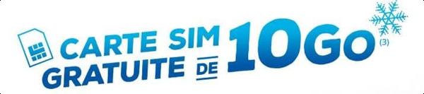 Carte SIM gratuite avec 10Go de data pour tester la 4G de Bouygues Telecom 14941310