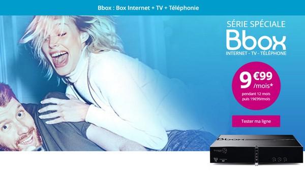 Nouvelle offre Bbox ADSL de Bouygues Telecom à 9,99€/mois pendant 12 mois Bbox9910