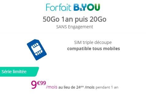 Bouygues Telecom prolonge son offre mobile 50Go à 9,99€ Byou5010