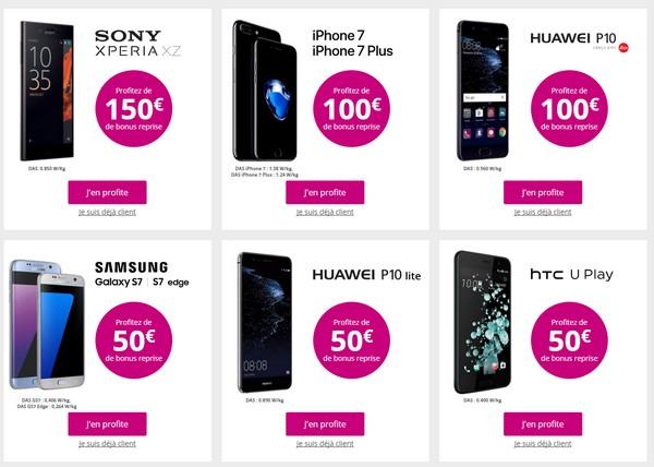 Jusqu'a 150€ de bonus de reprise d'ancien mobile chez Bouygues Telecom Repris10