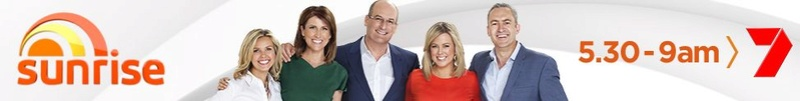Pat Brown LIVE on Sunrise Breakfast Show in Australia!  8.42 pm GMT - 4:42 pm EST (07:42 am Sydney). Sunris10