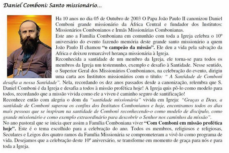 Missionários Combonianos 118