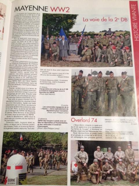 Militaria Mag, Novembre 2013. Inauguration Borne 2ème DB Cossé-en-Champagne, Image110