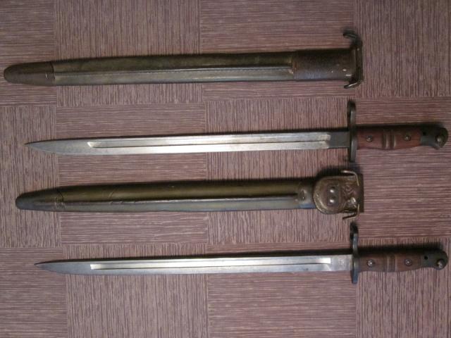Quelques baïonnettes montées sur leurs armes Img_4613